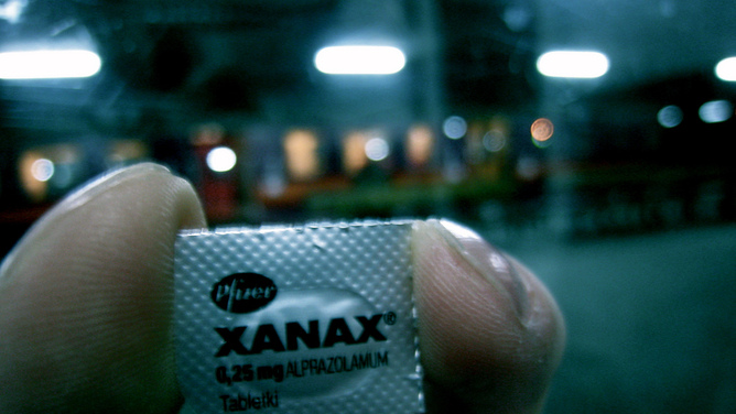 who makes the brand name xanax