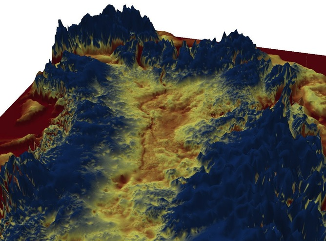 3d visualisation of Greenland canyon