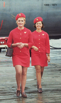 Leon Paule-designed Female Uniform 1969 -1971.