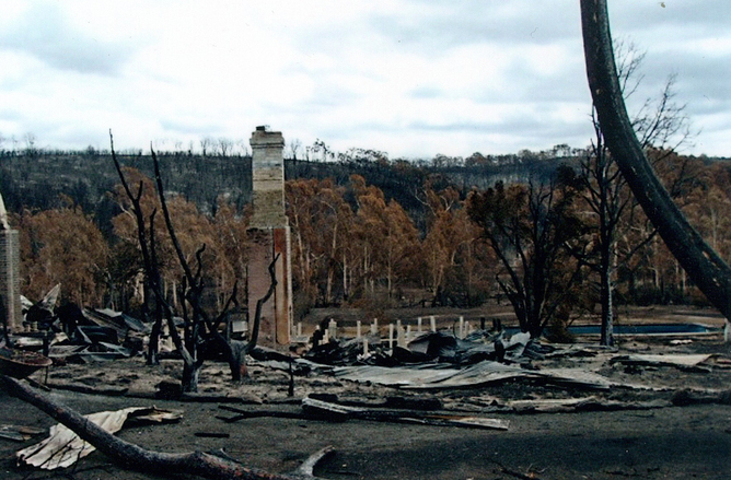 Damage caused by the Back Saturday fires AAP Image/Supreme Court Victoria