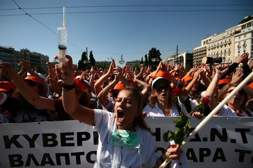 Aap_medical_personel_of_athens_hospitals_shout_slogans_as_they_march_in_central_athens_greece_on_13_october