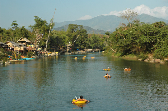 Tubing is a popular but risky pastime in Laos