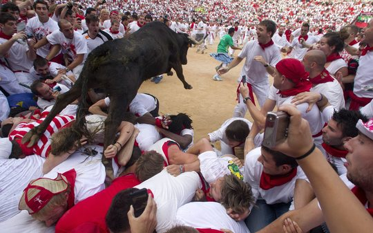 Pampelona running of the bulls